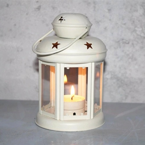 Portable iron Metal Hanging tealight Lantern with star design home/wedding decor
