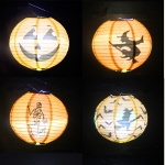 Round Paper Lantern for Halloween Decoration