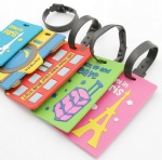 Hot sale travel baggage rubber luggage tag