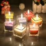 tall glass candle holders stained glass with good quality
