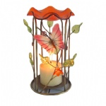 Decorative Metal candle holder with butterfly design