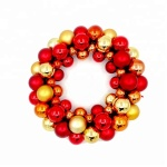 home decoration christmas plastic ball ornament wreath indoor