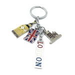 Hot selling metal London souvenir keychain