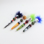 Halloween carnival feathers ball pen crafts grimace pumpkin desgin