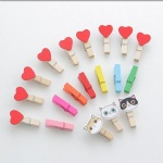 Handmade Creative wooden clips craft heart animal design