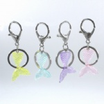 Novelty metal keychain with mermaid tail pendants creative gift Promotion Gift