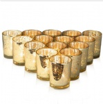 Mercury glass votive candle holder tealight candle holder set of 12