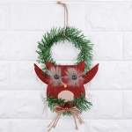 bird owl Wreath christmas door hanging decoration