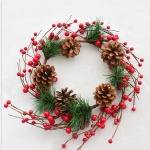 Indoor Christmas Decoration Artificial Pine Christmas Wreaths